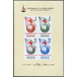 سونیرشیت صدمین سالگرد صلیب سرخ - بروندی 1963