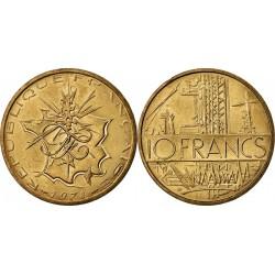 سکه 10 فرانک - نیکل برنج - فرانسه 1978 غیر بانکی
