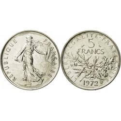 سکه 5 فرانک - نیکل مس روکش نیکل - فرانسه 1972 غیر بانکی