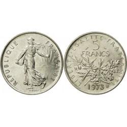 سکه 5 فرانک - نیکل مس روکش نیکل - فرانسه 1973 غیر بانکی