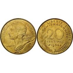 سکه 20 سنتیم - آلومینیوم برنز - فرانسه 1964 غیر بانکی