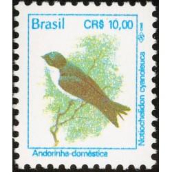 1 عدد تمبر سری پستی - پرندگان - 10 کروز - برزیل 1994