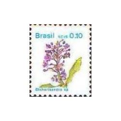 1 عدد تمبر سری پستی -گلها - برزیل 1989
