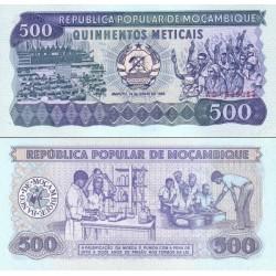 اسکناس 500 متیکا - موزامبیک 1986