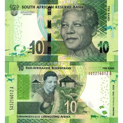 اسکناس 10 رند - یادبود صدمین سالگرد تولد نلسون ماندلا - آفریقای جنوبی 2018