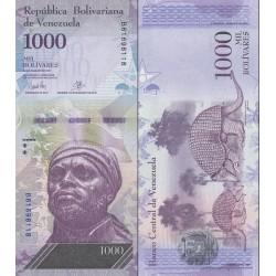 اسکناس 1000 بولیوار - ونزوئلا 2017
