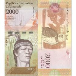 اسکناس 2000 بولیوار - ونزوئلا 2017