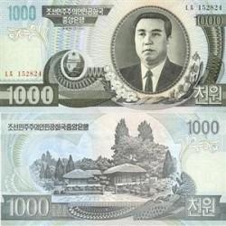 اسکناس 1000 وون کره شمالی 2006 تک