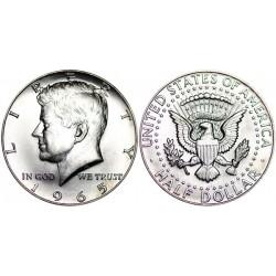 سکه نیم دلاری - نقره - آمریکا 1965 غیر بانکی