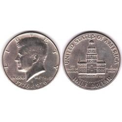 سکه نیم دلاری - یادبود 200مین سالگرد آمریکا - نیکل مس - آمریکا 1976 غیر بانکی