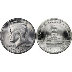 سکه نیم دلاری - یادبود 200مین سالگرد آمریکا - نیکل مس - آمریکا 1976 بانکی