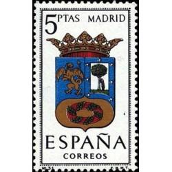 1 عدد تمبر آرم استانها -  Madrid - اسپانیا 1964