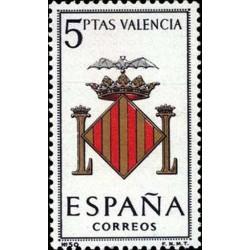 1 عدد تمبر آرم استانها - Valencia - اسپانیا 1966
