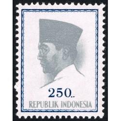 1 عدد تمبر سری پستی پرزیدنت سوکارنو - 250 - اندونزی 1964