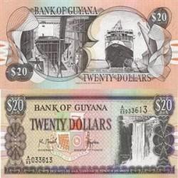 اسکناس 20 دلار گویانا 1989 تک