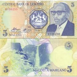 اسکناس 5 مالوتی - لسوتو 1989