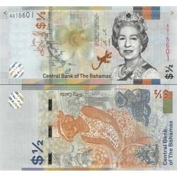 اسکناس 50 سنت - نیم دلار - باهاماس 2019