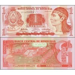 اسکناس 1 لمپیراس - هندوراس 2010