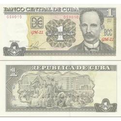 اسکناس 1 پزو - کوبا 2016