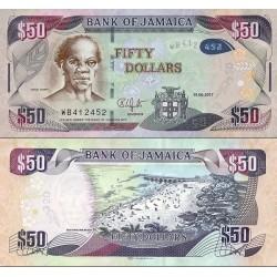 اسکناس 50 دلار - جامائیکا 2017