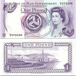 اسکناس 1 پوند - جزیره من 1991