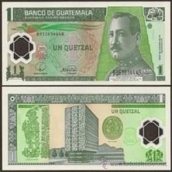 اسکناس 1 کواتزال پلیمر گواتمالا 2006 تک