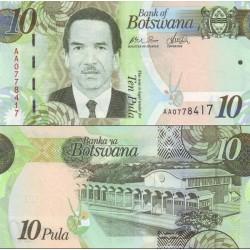 اسکناس 10 پولا - بوتسوانا 2009