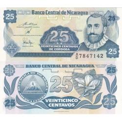 اسکناس 25 سنتاووس - نیکاراگوئه 1991