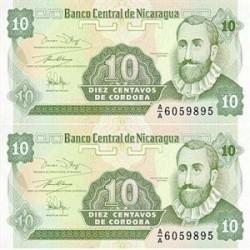 اسکناس 10 سنتاووس نیکاراگوا تک بانکی