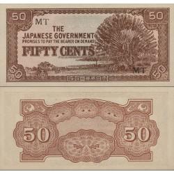 اسکناس 50 سنت - مالایا 1942