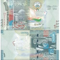 اسکناس 1 دینار - کویت 2014