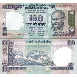 اسکناس 100 روپیه - هندوستان 2005 با حرف سر لوحه R