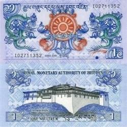 اسکناس 1 نگولتروم بوتان 2006 تک