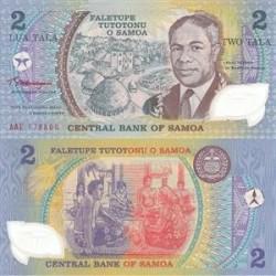 اسکناس پلیمر 2 تالا - یادبود پنجاهمین سالگرد خدمات ریاست دولت - ساموا 1990