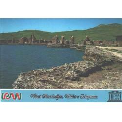 کارت پستال ایرانی - آثار ملی ثبت شده در یونسکو - تخت سلیمان - آذربایجان غربی