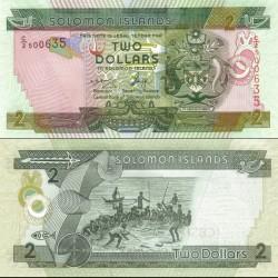اسکناس پلیمر 2 دلار - جزایر سلیمان 2006 ارقام سریال صعودی