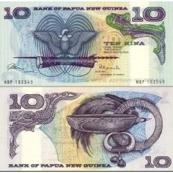اسکناس 10 کینا - پاپوا گینه نو 1985