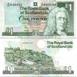 اسکناس 1 پوند استرلینگ - اسکاتلند 1989 کیفیت 98%