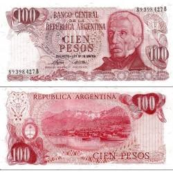 اسکناس 100 پزو - آرژانتین 1976 سری B