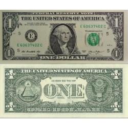 اسکناس 1 دلار - آمریکا 2013 سری E ریچموند- مهر سبز
