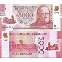 اسکناس پلیمر 5000 گورانی - پاراگوئه 2016