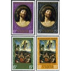 4 عدد تمبر عید پاک - تابلو  نقاشی - سنت لوئیس 1969