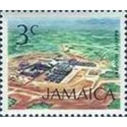 1 عدد تمبر سری پستی زیرساختها - صنعت بوکسیت - 3 - جامائیکا 1972