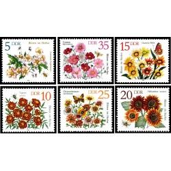 6 عدد تمبر گلها - جمهوری دموکراتیک آلمان 1982 قیمت 4.7 دلار