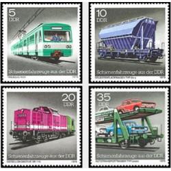 4 عدد تمبر قطارها - جمهوری دموکراتیک آلمان 1979