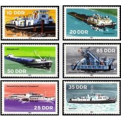 6 عدد تمبر کشتیهای رودخانه - جمهوری دموکراتیک آلمان 1981 قیمت 4.7 دلار