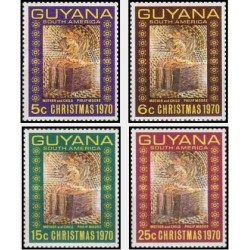 4 عدد تمبر کریستمس - گویانا 1970