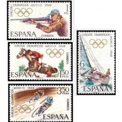 4 عدد تمبر المپیک مکزیکوسیتی - مکزیکو - اسپانیا 1968