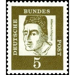 1 عدد تمبر از سری پستی مشاهیر - 5 - جمهوری فدرال آلمان 1961