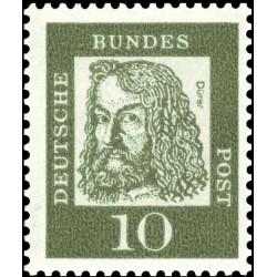 1 عدد تمبر از سری پستی مشاهیر - 10 - جمهوری فدرال آلمان 1961